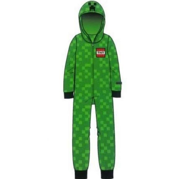 e92c9544 mindcraft Pajamas | Minecraft Boys Fleece Hooded Blanket Sleeper ...
